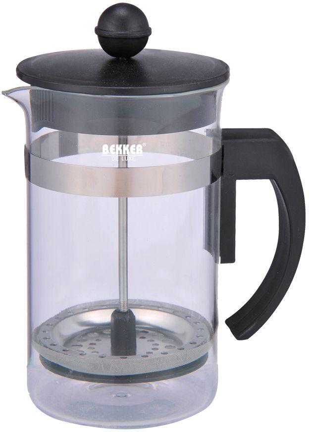 Чайник заварочный Bekker, 600 мл. BK-389BK-389600мл., корпус из жаропрочного стекла в комбинации с металлом , крышка пластмассовая с толкателем.
