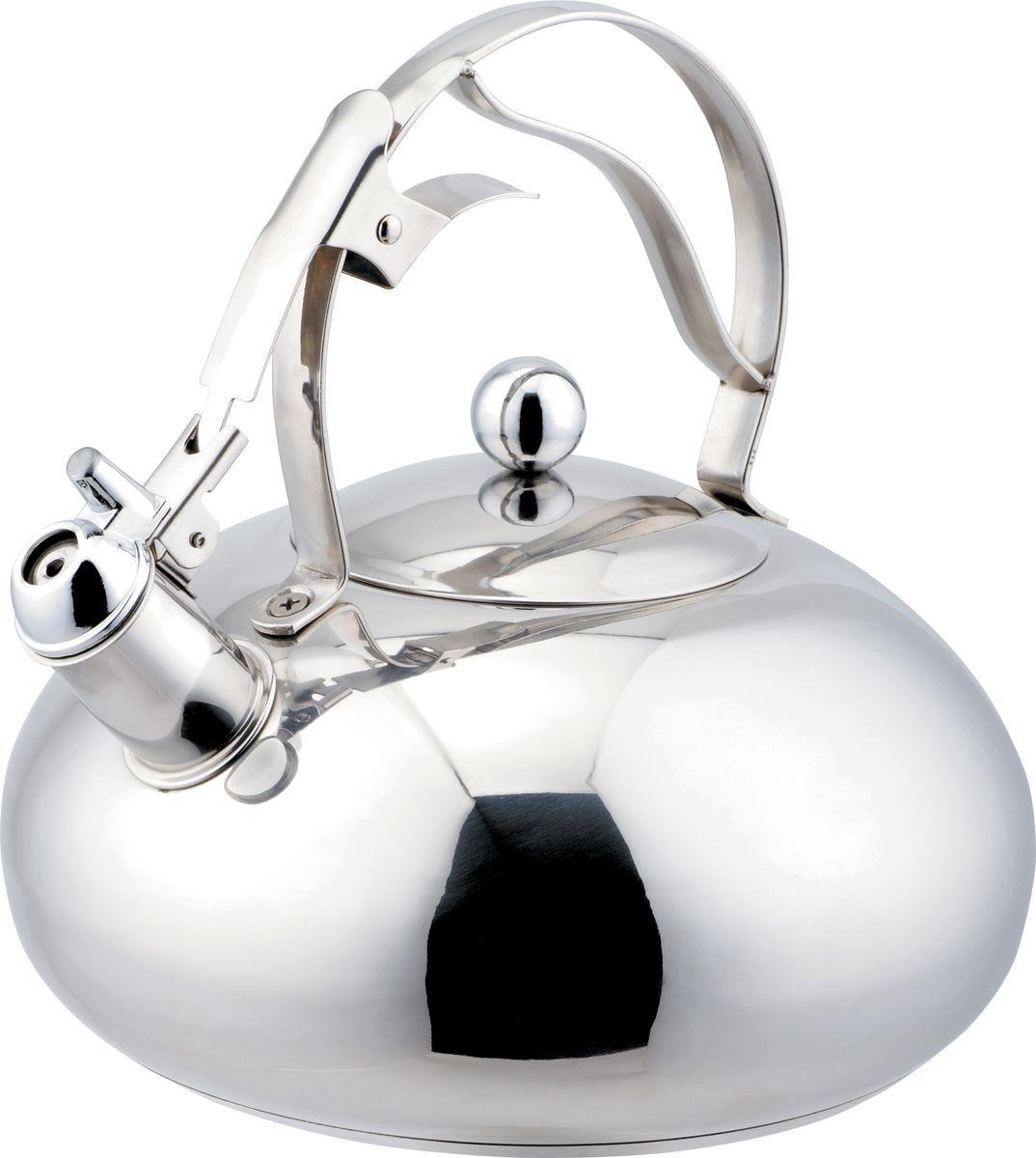 Чайник Bekker Koch, со свистком, 3 л. BK-S433BK-S433Чайник Bekker Koch изготовлен из высококачественной нержавеющей стали с зеркальной полировкой. Цельнометаллическое дно распределяет тепло по всей поверхности, что позволяет чайнику быстро закипать. Эргономичная фиксированная ручка выполнена из нержавеющей стали. Широкое отверстие по верхнему краю позволяет удобно наливать воду. Свисток открывается и закрывается нажатием кнопки на рукоятке. Подходит для всех типов плит, включая индукционные. Можно мыть в посудомоечной машине. Диаметр (по верхнему краю): 11 см. Диаметр основания: 18 см. Толщина стенки: 0,65 мм. Высота чайника (без учета ручки): 10 см. Высота чайника (с учетом ручки): 22 см.