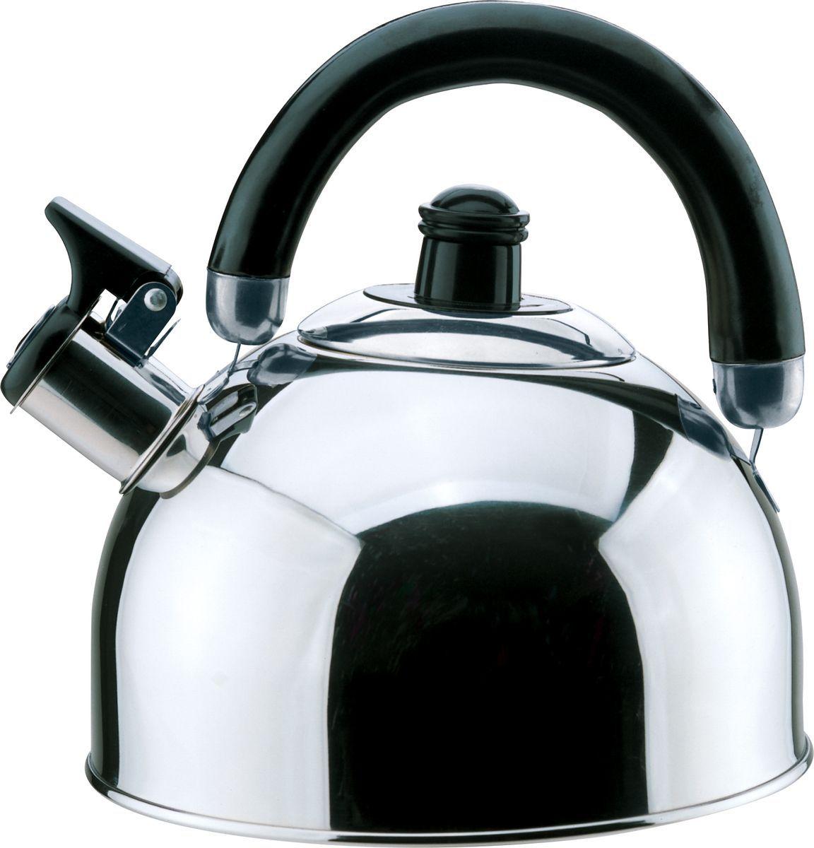 Чайник Bekker, 2,5 л. BK-S341MBK-S341M(12)2,5л, со свистком, ручка пластм. подвижная черного цвета, крышка из нержав. стали, капсулир. дно, поверхность зерк. Состав: нержав. сталь.