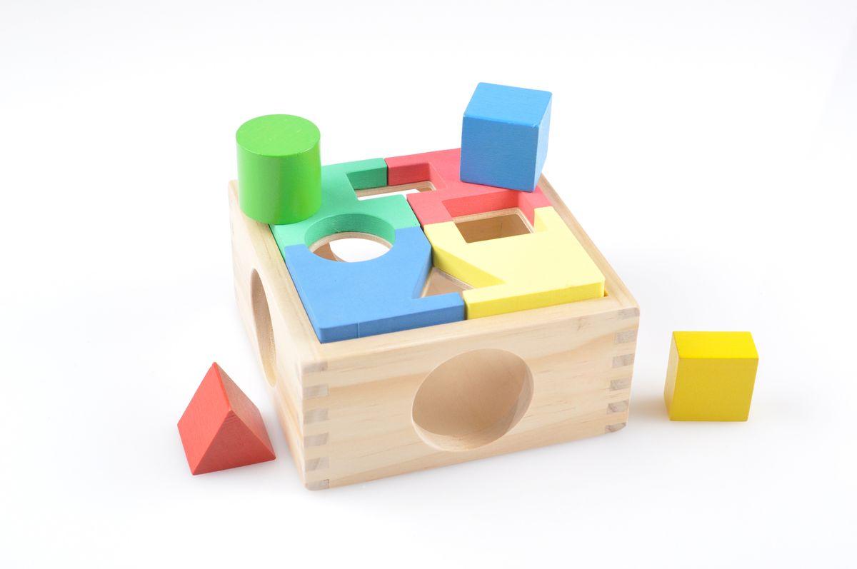 Игрушки из дерева Занимательная коробкаД029