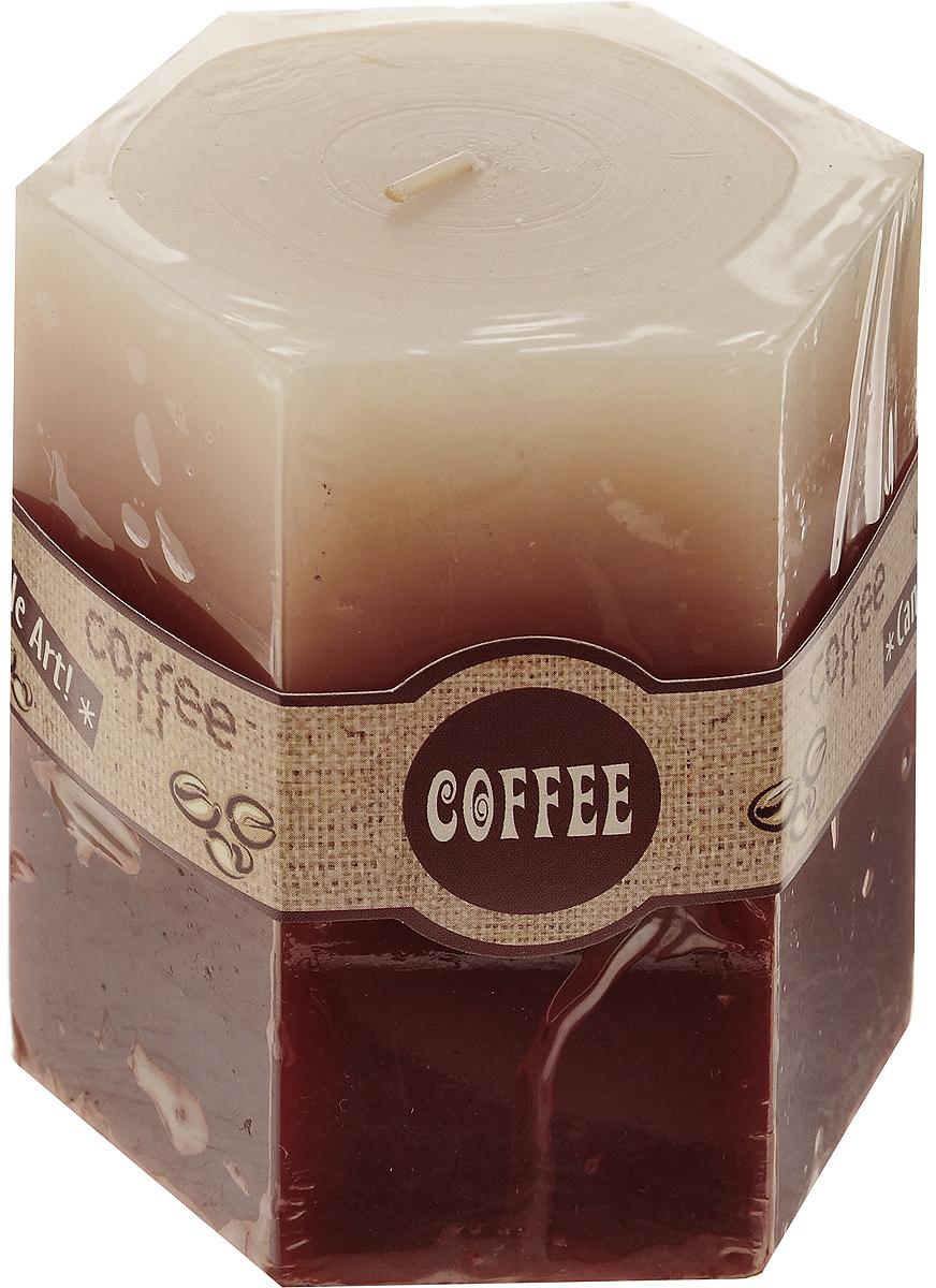 Свеча декоративная Lovemark Кофе, ароматизированная, цвет: бежевый, коричневый, 8 х 7,5 х 9 см08GS1518-COДекоративная свеча Lovemark Кофе изготовлена из высококачественного парафина. Изделие отличается оригинальным дизайном и приятным ароматом кофе. Такая свеча может стать отличным подарком или дополнить интерьер вашей комнаты.