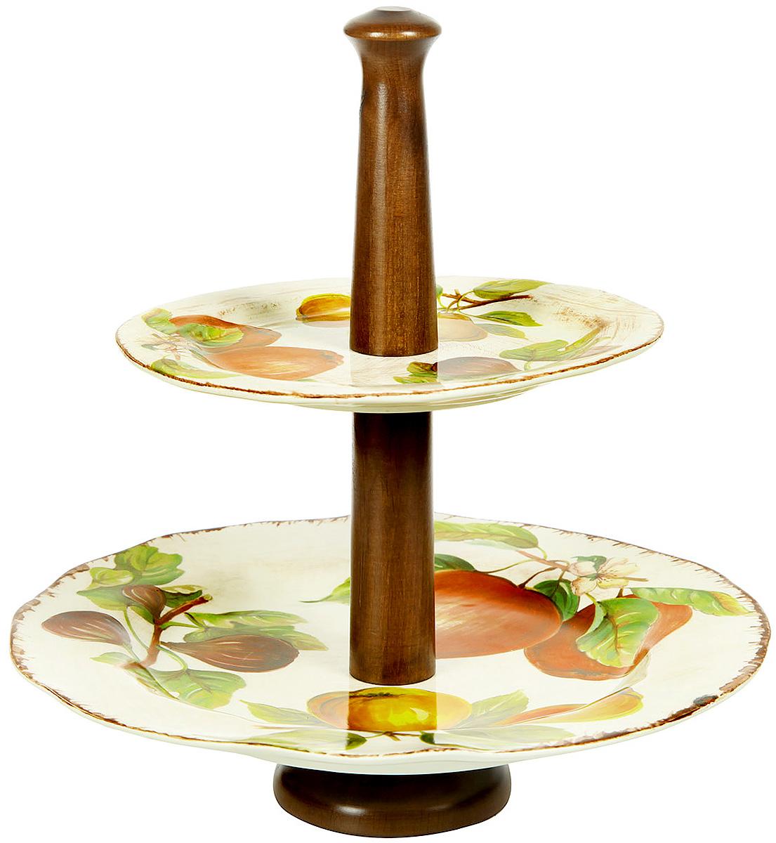 Горка двухъярусная Sestesi, высота 34 смFRTT/1055Создание компании, претендующей на мировую популярность, требует наличия определенной изюминки. Фирма Lavorazione Ceramiche Sestesi (LCS) – популярный производитель, известный своими первоклассными изделиями из керамики. Дизайнеры компании разрабатывают разнообразные декоры в современном и классическом стилях, ориентируясь на новомодные тенденции.Изделия снабжены подарочными упаковками, поэтому могут быть преподнесены в качестве подарка к любому торжеству. Собрав набор из различных предметов, вы сможете организовать прекрасный и, что особенно важно, функциональный презент молодоженам, новоселам или просто сделать приятный сюрприз для близкого человека. Прекрасные декоры, ручная роспись, превосходное качество и регулярное обновление коллекций позволило итальянской компании Lavorazione Ceramiche Sestesi достаточно быстро выйти на мировой уровень. Сегодня ее изделия известны далеко за рубежом. Роскошная керамика LCS по вкусу ценителям изысканной посуды, выполненной в флорентийском стиле....