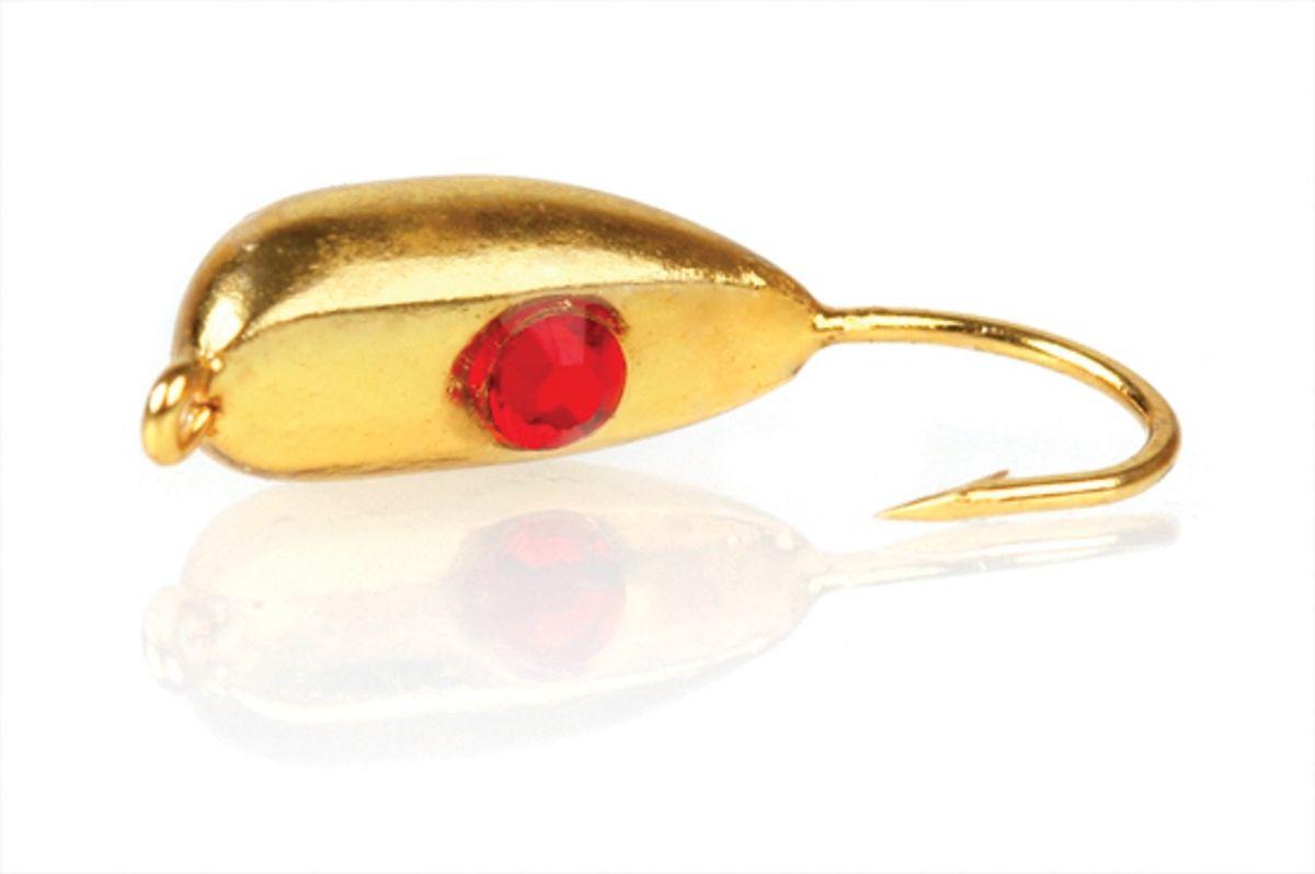 Мормышка вольфрамовая Asseri Рижский банан Swarovski, цвет: золотой, красный, 2,6 г, 5 штВ8- SGo+Мормышка Asseri Рижский банан Swarovski изготовлена из вольфрама и оснащена крючком. Изделие бликует в воде, что делает ее более привлекательной для хищных рыб. Кристалл имитирует глазик краба. Главное достоинство вольфрамовой мормышки - большой вес при малом объеме. Эта особенность дает большие преимущества при ловле, так как позволяет быстро погрузить приманку на требуемую глубину и лучше чувствовать игру мормышки. Размер: 4,8 х 11 мм.