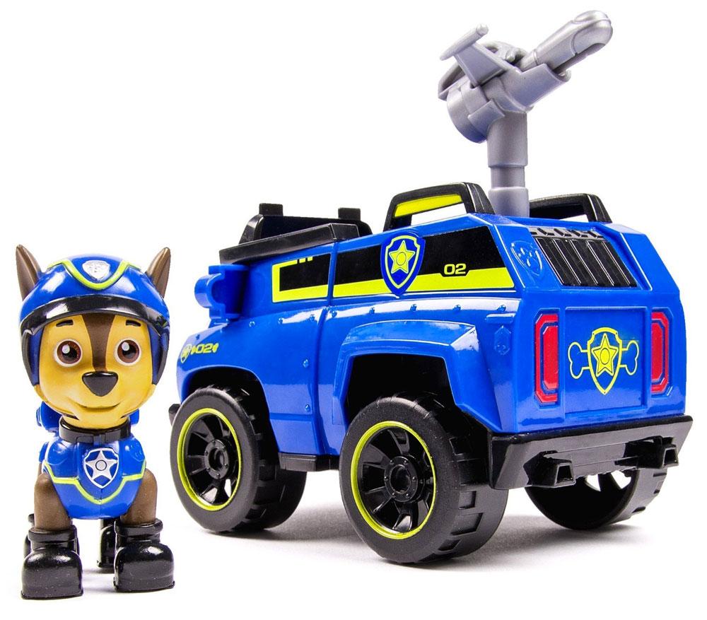 Paw Patrol Игровой набор Машинка спасателя и щенок Chase 2006861616601_20068616Игровой набор Paw Patrol Машинка спасателя и щенок Chase станет отличным подарком маленьким поклонникам знаменитого мультсериала. В набор входит фигурка Чейза - это щенок породы немецкая овчарка, выполняющий в отряде функции полицейского. Чейз ездит на синей полицейской машине. Фигурку собачки можно поместить в кабину машины и катать. У собачки подвижные лапы и голова. Ваш малыш будет увлеченно играть с этим набором, придумывая различные истории. Сделайте ему такой замечательный подарок!
