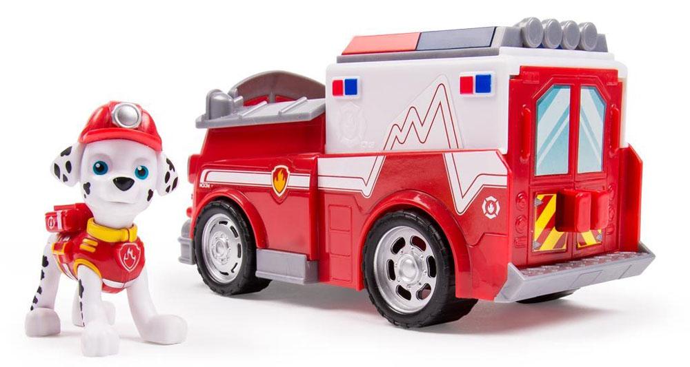 Paw Patrol Игровой набор Машинка спасателя и щенок Marshall16601_20068615В игровой набор Paw Patrol Машинка спасателя и щенок Marshall входят фигурка персонажа и соответствующее транспортное средство - прототип автомобиля из мультфильма. Машинка функциональна: у нее вращаются колеса, открываются задние двери. Фигурка Маршала имеет подвижные лапы и голову. Ее легко поместить в машинку, на специальное место водителя. Набор выполнен из безопасных и качественных материалов.