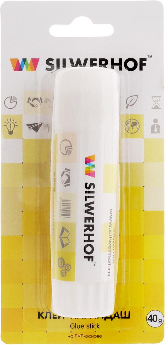 Silwerhof Клей-карандаш 40 г436240Клей-карандаш Silwerhof идеально подходит для склеивания бумаги, картона и фотографий. Выкручивающийся механизм обеспечивает постепенное выдвижение клеящего стержня из пластикового корпуса. Клей-карандаш экологически безопасен, быстро сохнет и не оставляет следов после высыхания. Вес клея: 40 грамм.