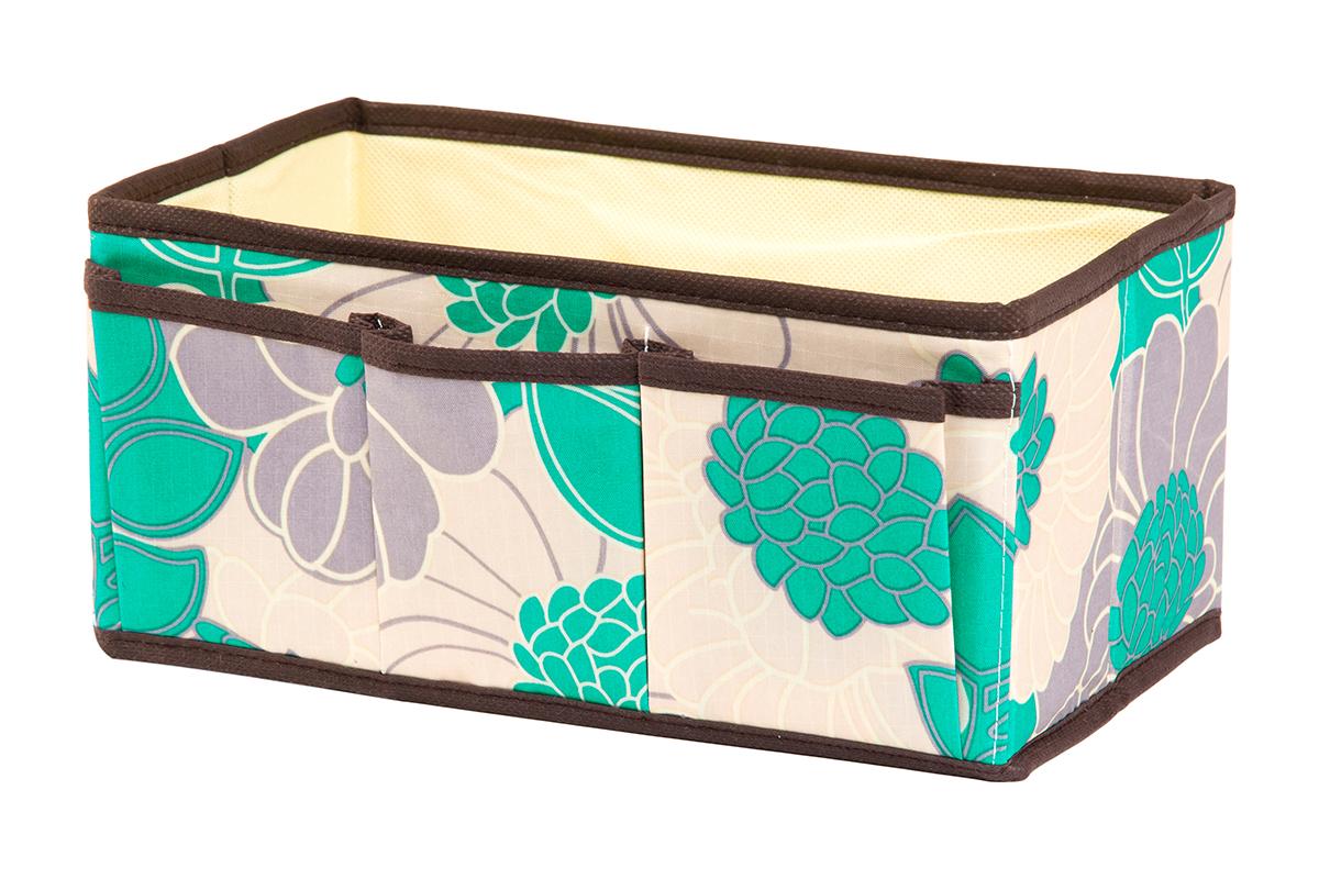 Органайзер для мелочей EL Casa Цветочное поле, 3 кармана, 25 х 15 х 12 см370594Органайзер для мелочей EL Casa Цветочное поле выполнен из качественного полиэстера, декорированного красивым цветочным рисунком. Благодаря специальным вставкам из картона изделие прекрасно держит форму. Удобный и компактный органайзер с 3 карманами с легкостью вместит все необходимые баночки и тюбики. Большое основное отделение можно использовать для кремов, парфюмерии и лаков. Наличие различных кармашков делает возможным хранение декоративной косметики и аксессуаров.
