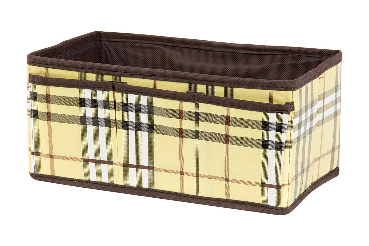 Органайзер для мелочей EL Casa Шотландка, 3 кармана, 25 х 15 х 12 см370599Органайзер для мелочей EL Casa Шотландка выполнен из качественного полиэстера и нетканого волокна, декорированного рисунком в клетку. Благодаря специальным вставкам из картона, изделие прекрасно держит форму. Удобный и компактный органайзер с 3 карманами с легкостью вместит все необходимые баночки и тюбики. Большое основное отделение можно использовать для кремов, парфюмерии и лаков. Наличие кармашков делает возможным хранение декоративной косметики и аксессуаров.