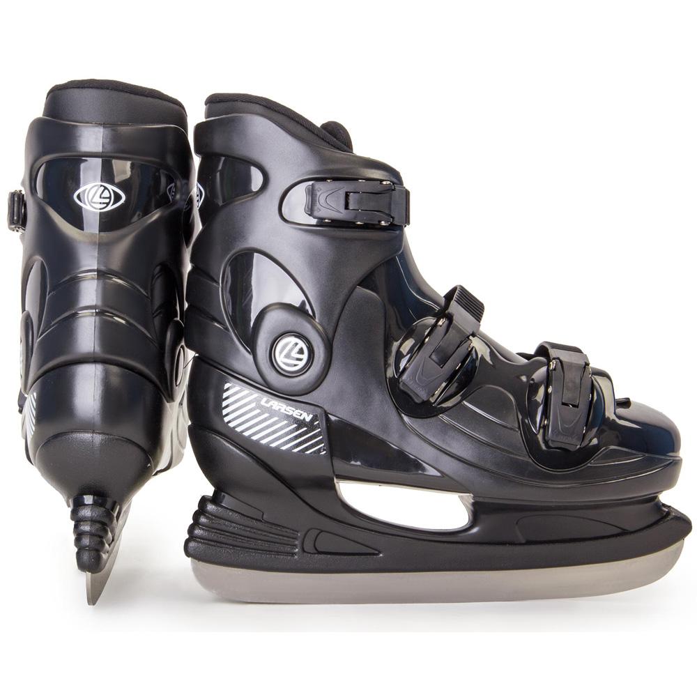 Коньки хоккейные Larsen Oscar 14, цвет: черный. 324062. Размер 45324062Температура использования: до -20 С Ботинок: полипропилен, полиэстер Лезвие: нержавеющая сталь Размеры: 36-54