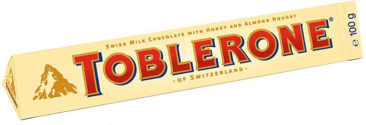 Toblerone шоколад молочный с медово-миндальной нугой, 100 г 754260, 4010973