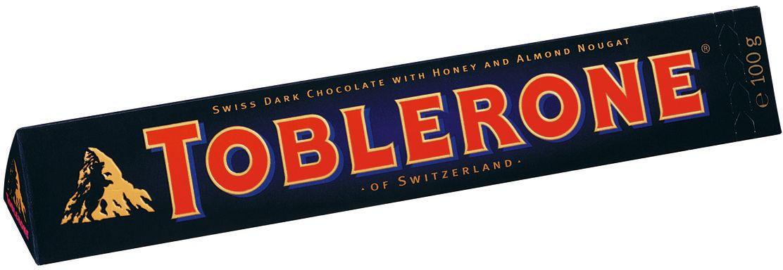 Toblerone шоколад горький с медово-миндальной нугой, 100 г 658070, 12574, 4010955