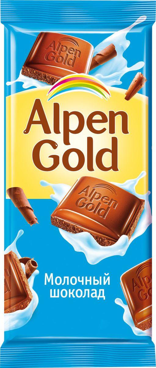 Alpen Gold шоколад молочный, 90 г646547, 4008440, 4012046Шоколад Альпен Гольд американской компании Крафт Фудс появился на российском рынке в 1994 году и сразу же обрел наибольшую популярность среди потребителей, которую не теряет и по сей день. Продукция торговой марки также представлена в Украине, Белоруссии и Польше. В переводе шоколад называется Альпийское золото. При этом торговая марка никак не относится к Альпам: все производство расположено в странах Восточной Европы. Любовь покупателей шоколад Alpen Gold завоевал хорошим соотношением цены и качества, а также большим разнообразием вкусов.