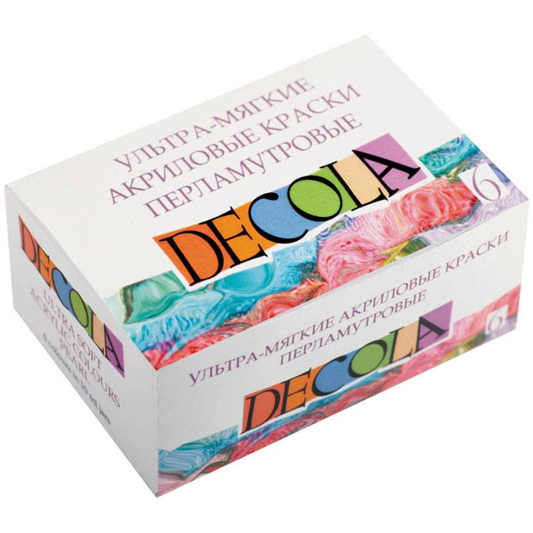 Decola Перламутровые ультра-мягкие акриловые краски 6 цветов