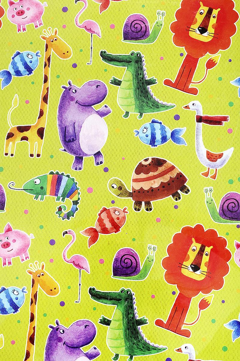 Бумага упаковочная Феникс-Презент Веселые зверята, 100 х 70 см41880Упаковочная бумага Феникс-Презент Веселые зверята оформлена полноцветным декоративным рисунком. Подарок, преподнесенный в оригинальной упаковке, всегда будет самым эффектным и запоминающимся. Бумага с одной стороны мелованная. Окружите близких людей вниманием и заботой, вручив презент в нарядном, праздничном оформлении. Размер: 100 х 70 см. Плотность бумаги: 80 г/м2.