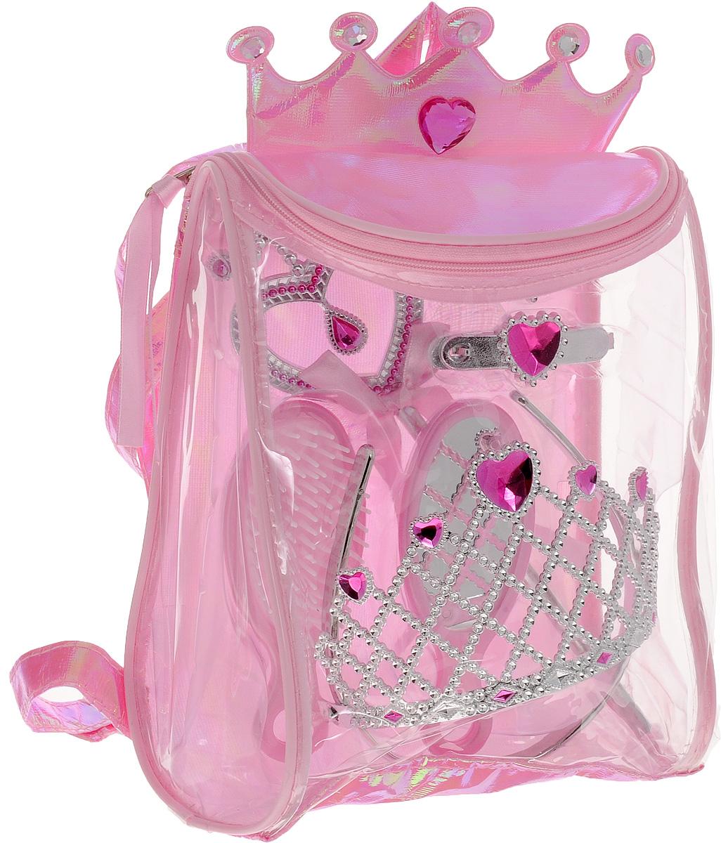 Boley Игровой набор Fantasy Girls Рюкзачок с аксессуарами цвет розовый82442Игровой набор Boley Fantasy Girls - станет отличным подарком к любому празднику для вашей маленькой принцессы. Набор содержит расческу, зеркало, две заколки, корону на ободке и волшебную палочку. Все элементы набора выполнены из высококачественных, экологически чистых материалов, совершенно безопасных для ребенка. Украшения выглядят ярко и очень эффектно. Набор упакован в замечательный прозрачный рюкзачок. Рюкзак содержит одно отделение и закрывается на клапан с молнией. Верхняя часть рюкзачка украшена мягкой короной с крупными стразами. Девочка может носить рюкзак за ручку или одевать на спину. Лямки можно регулировать по длине. С таким набором ваша малышка почувствует себя настоящей принцессой!