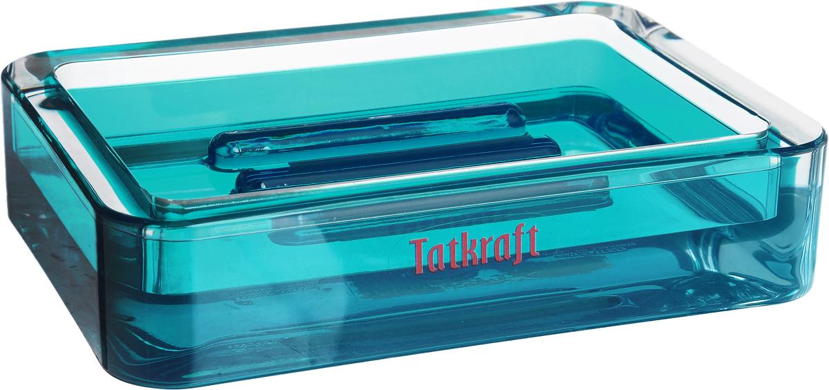Мыльница Tatkraft Topaz Blue, 12 х 8,5 х 2,5 см12721Прямоугольная мыльница Tatkraft Topaz Blue изготовлена из высококачественного акрила. Легко чистится. Такая мыльница прекрасно подойдет для ванной комнаты или кухни. Мыльница Tatkraft Topaz Blue создаст особую атмосферу уюта и максимального комфорта в ванной. Размер мыльницы: 12 х 8,5 х 2,5 см.