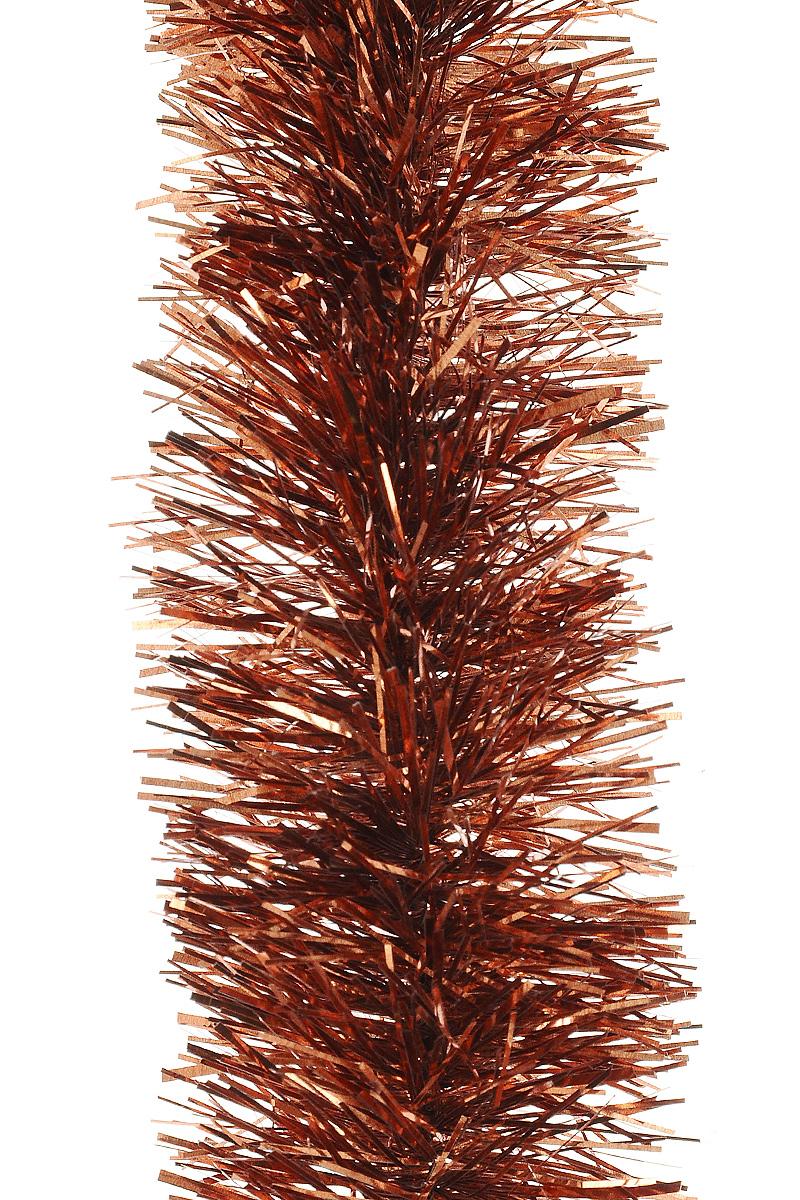 Мишура новогодняя Moranduzzo, цвет: красно-медный, диаметр 5 см, длина 2 м117500202Мишура новогодняя Moranduzzo, выполненная из ПВХ, поможет вам украсить свой дом к предстоящим праздникам. Новогодняя елка с таким украшением станет еще наряднее. Новогодней мишурой можно украсить все, что угодно - елку, квартиру, дачу, офис - как внутри, так и снаружи. Можно сложить новогодние поздравления, буквы и цифры, мишурой можно украсить и дополнить гирлянды, можно выделить дверные колонны, оплести дверные проемы.