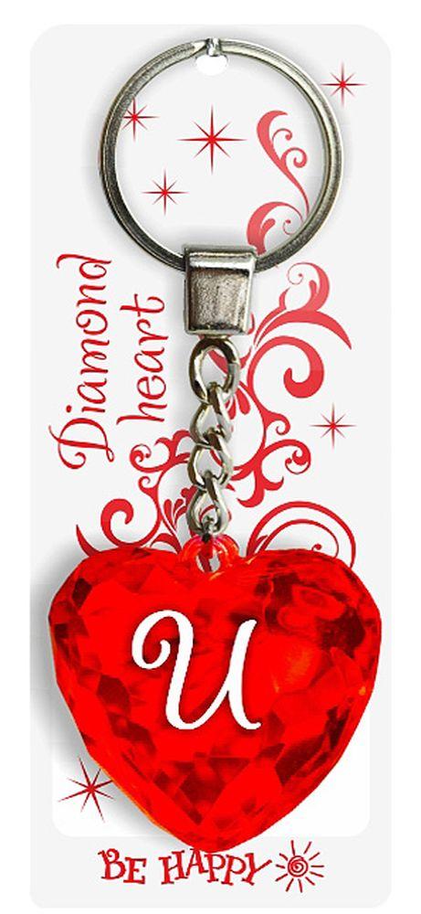 Брелок Be Happy Диамантовое сердце. И48Оригинальный брелок Be Happy Диамантовое сердце, изготовленный из высококачественного пластика, станет отличным подарком. Это не только приятный, но и практичный сувенир для каждодневного использования, ведь такое хрустальное сердце - не просто брелок, а модный аксессуар. Брелоком можно украсить сумочку, детскую коляску или повесить на ключи. Переливающиеся грани и блестящая поверхность создадут гламурный образ. Длина цепочки - 4 см. Диаметр кольца - 2 см.