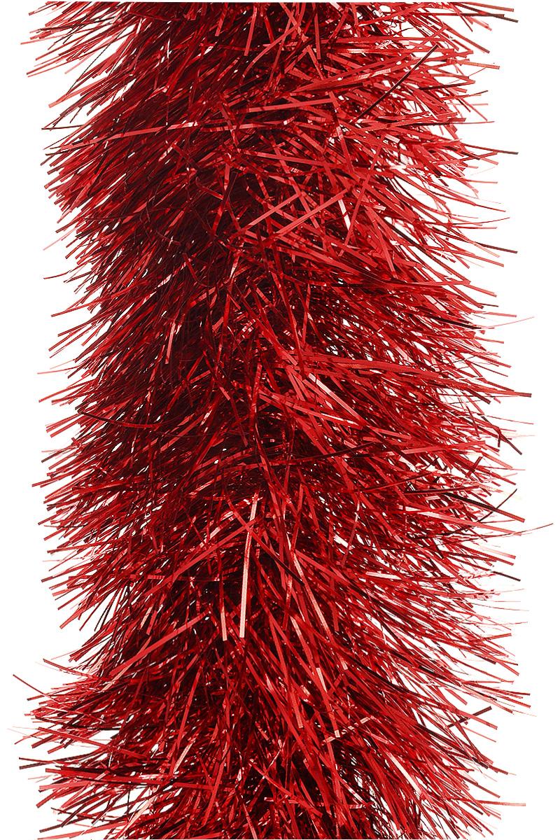Мишура новогодняя Moranduzzo, цвет: красный, диаметр 7,5 см, длина 2 м117752200Мишура новогодняя Moranduzzo, выполненная из ПВХ, поможет вам украсить свой дом к предстоящим праздникам. Новогодняя елка с таким украшением станет еще наряднее. Новогодней мишурой можно украсить все, что угодно - елку, квартиру, дачу, офис - как внутри, так и снаружи. Можно сложить новогодние поздравления, буквы и цифры, мишурой можно украсить и дополнить гирлянды, можно выделить дверные колонны, оплести дверные проемы.
