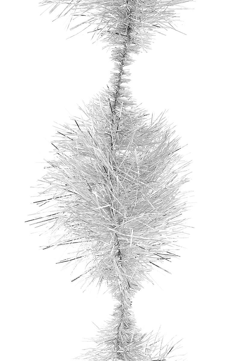 Мишура новогодняя Moranduzzo Пом-пом, цвет: серебряный, диаметр 7,5 см, длина 2 м110750505Мишура новогодняя Moranduzzo Пом-пом, выполненная из ПВХ, поможет вам украсить свой дом к предстоящим праздникам. Новогодняя елка с таким украшением станет еще наряднее. Новогодней мишурой можно украсить все, что угодно - елку, квартиру, дачу, офис - как внутри, так и снаружи. Можно сложить новогодние поздравления, буквы и цифры, мишурой можно украсить и дополнить гирлянды, можно выделить дверные колонны, оплести дверные проемы.