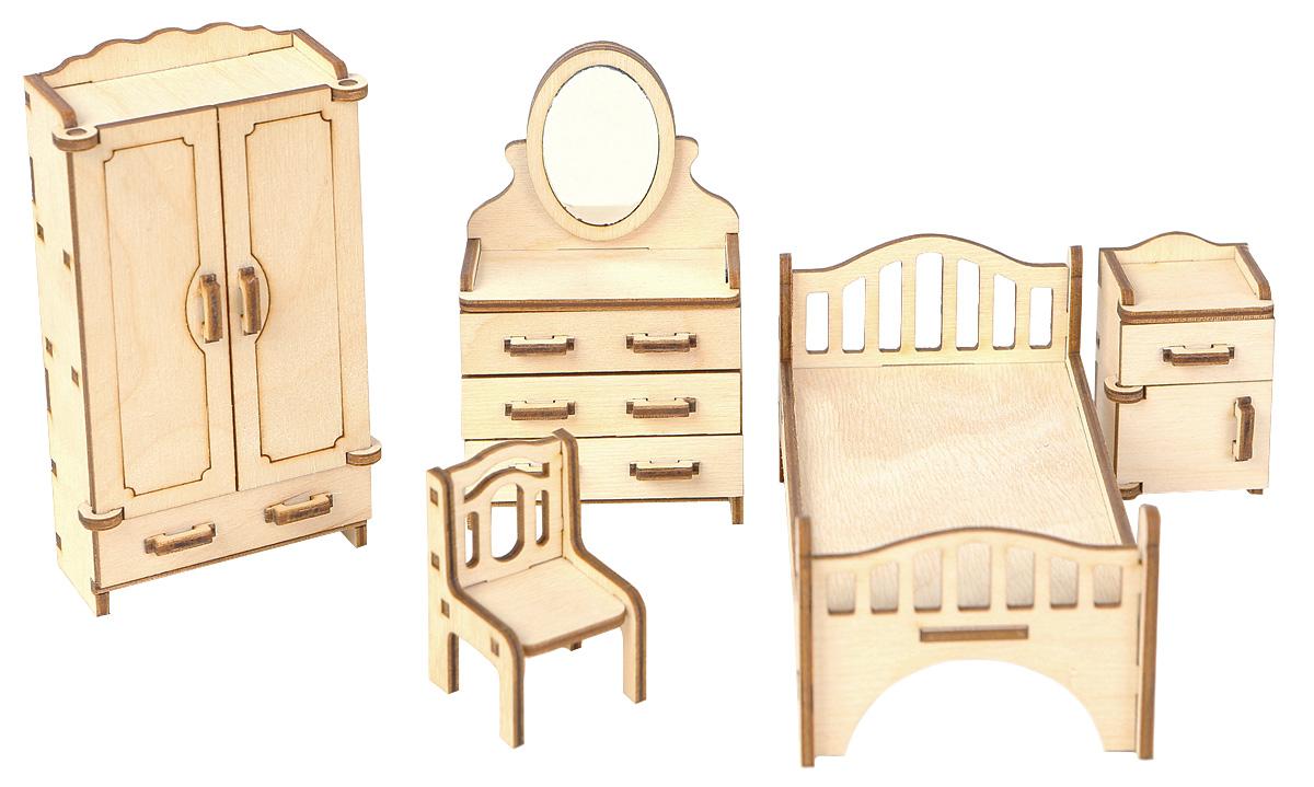 Большой Слон Мебель для кукол СпальняМ-001Мебель для кукол Большой Слон Спальня будет замечательно смотреться в кукольном домике. Набор, выполненный из натурального дерева, надолго займет внимание вашей малышки. Набор включает в себя: комод с зеркалом, кровать, стул, шкаф для одежды и тумбу. Вся мебель из набора выполнена из натурального дерева и требует сборки. В коробке вы найдете резные элементы для сборки мебели и схематичную инструкцию. При сборке мебели развивается мелкая моторика рук, а при игре - воображение и фантазия ребенка. Такой набор подойдет небольшим куколкам вашей малышки. Порадуйте свою принцессу таким замечательным подарком!
