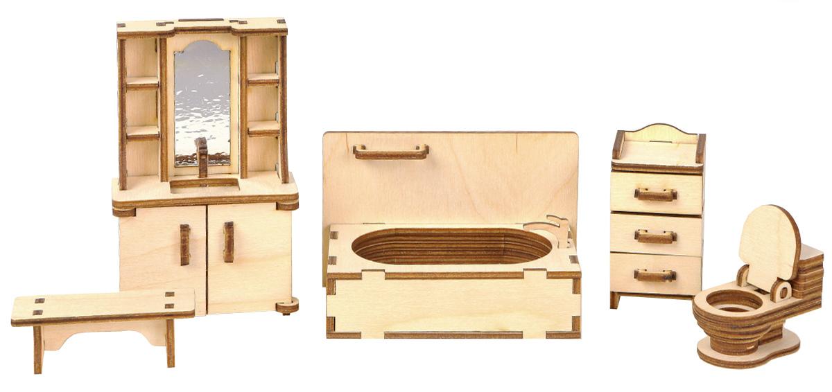 Большой Слон Мебель для кукол ВаннаяМ-004Мебель для кукол Большой Слон Ванная будет замечательно смотреться в кукольном домике. Набор, выполненный из натурального дерева, надолго займет внимание вашей малышки. Набор включает в себя: умывальник с зеркалом, ванну, скамейку, шкафчик и унитаз. Вся мебель из набора выполнена из натурального дерева и требует сборки. В коробке вы найдете резные элементы для сборки мебели и схематичную инструкцию. При сборке мебели развивается мелкая моторика рук, а при игре - воображение и фантазия ребенка. Мебель подходит для кукол высотой 10-12 см. Мебель может быть разукрашена красками и декорирована различными материалами: тканью, пластиком, обоями и др. Такой набор подойдет небольшим куколкам вашей малышки. Порадуйте свою принцессу таким замечательным подарком!