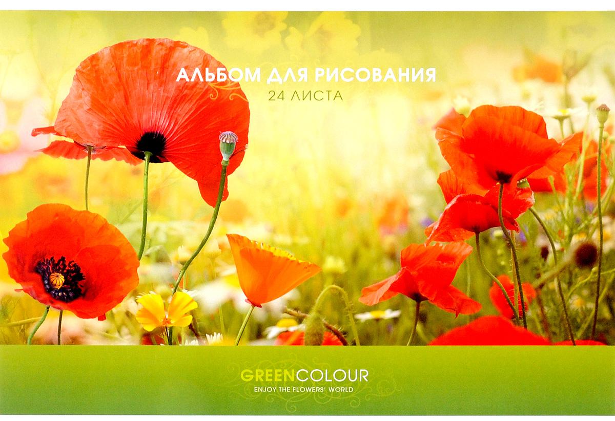 ArtSpace Альбом для рисования Яркие цветы 24 листа