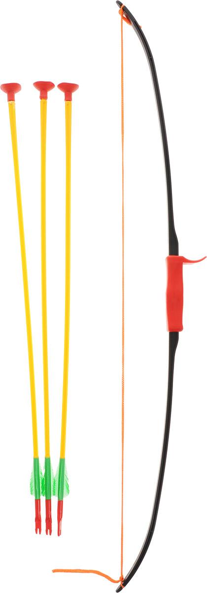 Bauer Лук Богатырь со стрелами на присоскахкр119С луком Bauer Богатырь вашему ребенку точно не придется скучать. В комплект также входят три стрелы с присосками на концах, что делает игру максимально безопасной. Игра с луком и стрелами развивает ловкость и меткость. Играть с этим набором можно как дома, так и на открытом воздухе. Набор выполнен из качественных и безопасных материалов.