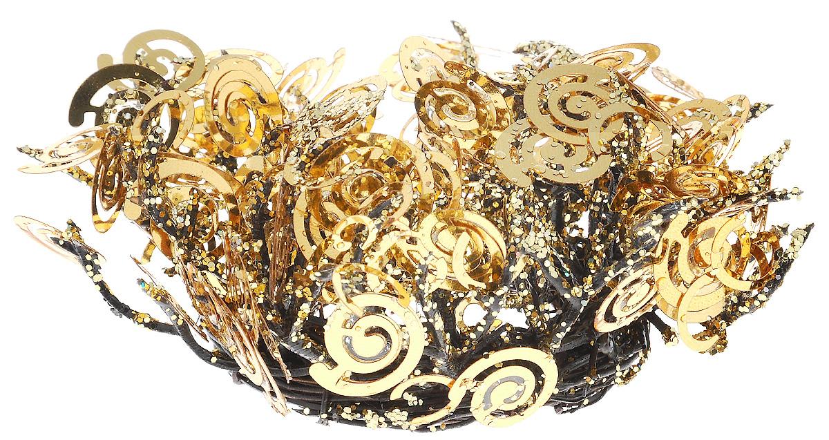 Насвечник Lovemark Спираль, диаметр 4 смXCB.12280,05Насвечник Lovemark Спираль станет изысканным украшением для подсвечника. Изделие представляет собой плетеные веточки, украшенные спиралями и покрытые блестками. Подсвечник с таким украшением станет изысканным дополнением интерьера. Диаметр подсвечника: 4 см.