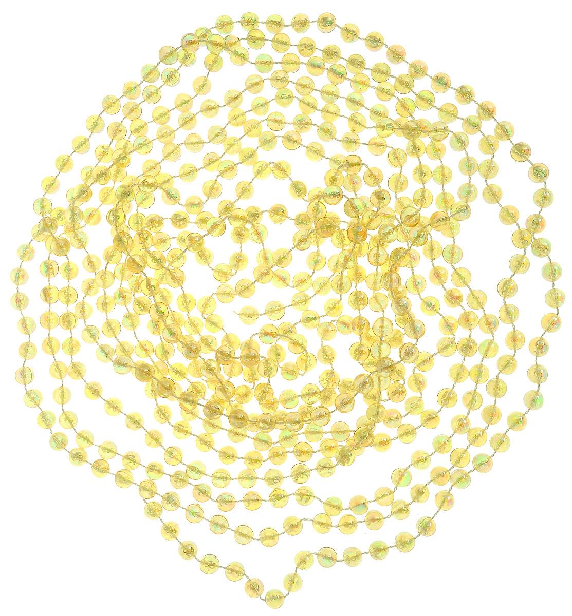 Гирлянда новогодняя Lovemark Бусы, цвет: золотистый, длина 5 мT801/5F/186Новогодняя гирлянда Lovemark Бусы, выполненная из пластика и текстиля, украсит интерьер вашего дома или офиса в преддверии Нового года. Оригинальный дизайн и красочное исполнение создадут праздничное настроение. Новогодние украшения всегда несут в себе волшебство и красоту праздника. Создайте в своем доме атмосферу тепла, веселья и радости, украшая его всей семьей. Общая длина гирлянды: 5 м. Диаметр бусины: 8 мм.
