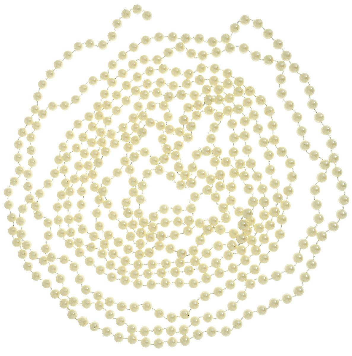 Гирлянда новогодняя Lovemark Бусы, цвет: жемчужный, длина 5 мT801/5F/PERLНовогодняя гирлянда Lovemark Бусы, выполненная из пластика и текстиля, украсит интерьер вашего дома или офиса в преддверии Нового года. Оригинальный дизайн и красочное исполнение создадут праздничное настроение. Новогодние украшения всегда несут в себе волшебство и красоту праздника. Создайте в своем доме атмосферу тепла, веселья и радости, украшая его всей семьей. Общая длина гирлянды: 5 м. Диаметр бусины: 8 мм.