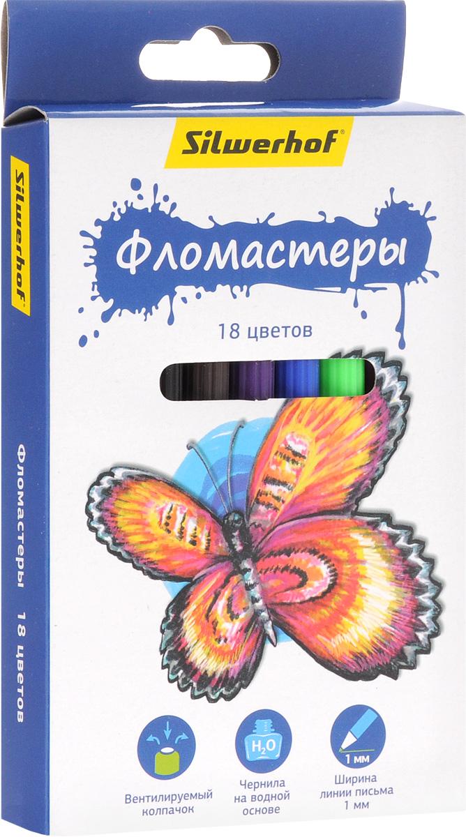 Silwerhof Фломастеры Бабочки 18 цветов867200-18Набор Silwerhof Бабочки - это 18 фломастеров ярких насыщенных цветов в разноцветных пластиковых корпусах (цвет корпуса соответствует цвету чернил). Каждый фломастер оснащен плотным вентилируемым колпачком, защищающим чернила от испарения. Чернила изготовлены на водной основе. Легко отстирываются и смываются с рук. Фломастеры Silwerhof - идеальный инструмент для самовыражения и развития маленького художника!