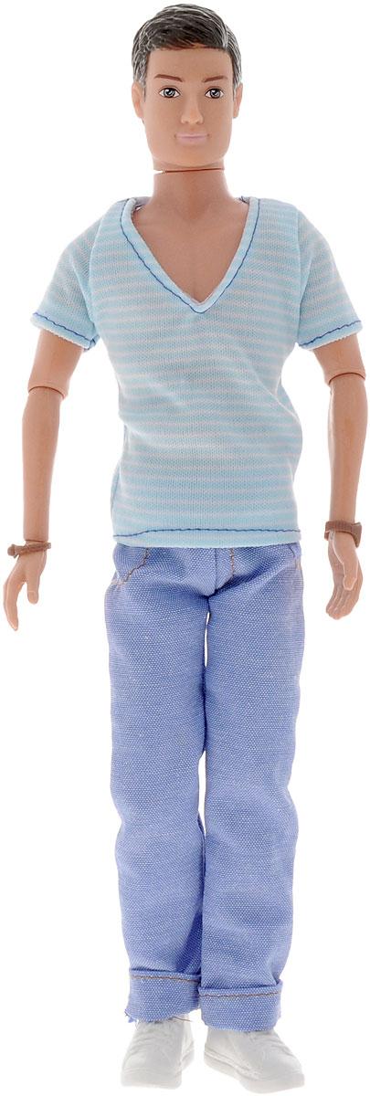 Simba Кукла Kevin5738032_брюнет, синие джинсы, полосатая футболкаКукла Simba Kevin непременно приведет в восторг вашу малышку и обязательно станет ее любимой игрушкой. Брюнет Кевин одет в модный наряд в стиле casual - полосатую футболку и синие джинсы, а на ногах у него - белые кроссовки. Руки, ноги и голова куклы подвижны, поэтому ей можно придавать любые позы. Благодаря играм с куклой, ваша малышка сможет развить фантазию и любознательность, овладеть навыками общения и научиться ответственности.