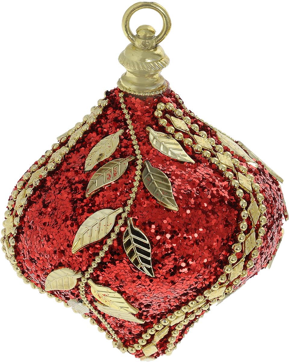 Украшение новогоднее подвесное Lovemark Луковица, цвет: красный, золотой, высота 11 смHZ38-85/108RНовогоднее подвесное украшение Lovemark Луковица выполнено из пенопласта и пластика. С помощью специальной петельки украшение можно повесить в любом понравившемся вам месте. Но, конечно, удачнее всего оно будет смотреться на праздничной елке. Елочная игрушка - символ Нового года. Она несет в себе волшебство и красоту праздника. Создайте в своем доме атмосферу веселья и радости, украшая новогоднюю елку нарядными игрушками, которые будут из года в год накапливать теплоту воспоминаний.