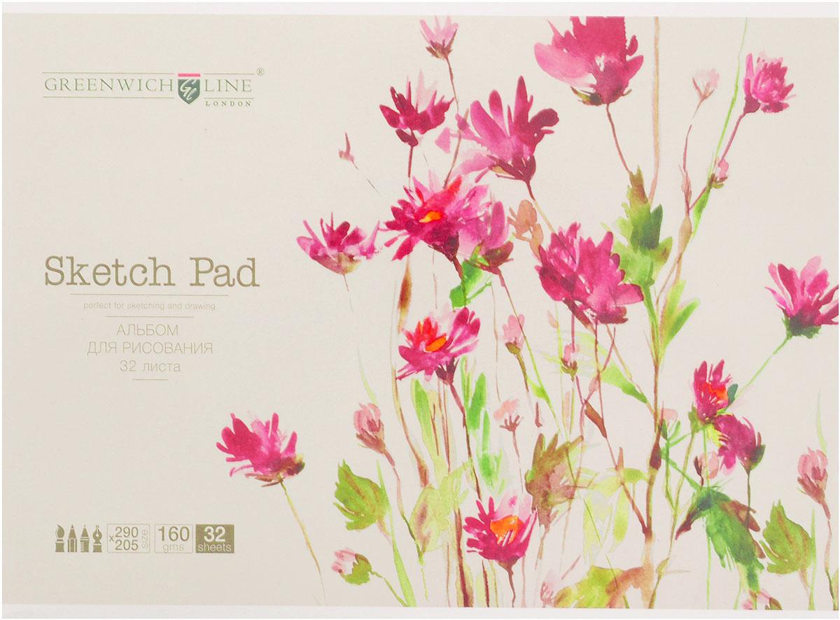 Greenwich Line Альбом для рисования Цветы 32 листаPS32-04622Альбом для рисования Greenwich Line Цветы - отличный вариант для воплощения творческих идей не только детей, но и взрослых. Бумага с плотностью 160 г/м2 прекрасно подходит для рисования всеми видами водорастворимых красок. Альбом на склейке и оснащён плотной картонной подложкой. Кроме того, такой альбом Greenwich Line Цветы поможет увлечь ребенка, развивая интерес к художественному творчеству, эстетический вкус и восприятие,воспитывая самостоятельность и аккуратность в работе.