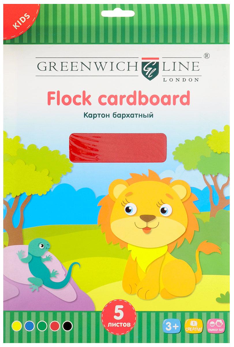 Greenwich Line Картон бархатный 5 листовFc4-07690Бархатный цветной картон Greenwich Line формата А4 идеально подходит для детского творчества: создания аппликаций, оригами и многого другого. В упаковке 5 листов бархатного картона 5 цветов. Бумага упакована в картонную папку. Детские аппликации из цветного картона - отличное занятие для развития творческих способностей и познавательной деятельности малыша, а также хороший способ самовыражения ребенка. Рекомендуемый возраст: от 3 лет.
