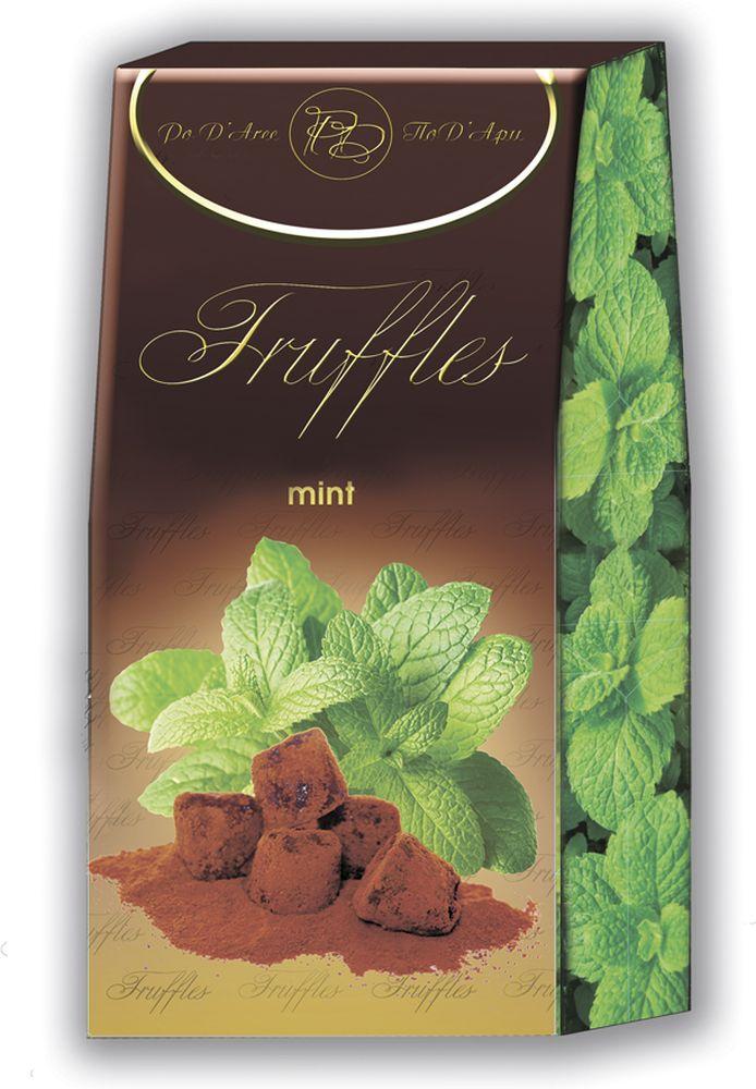 Chocolat Mathez Набор конфет Трюфель французский с мятным вкусом, 160 гУТ-00005221Настоящий трюфель французких Шоколатье
