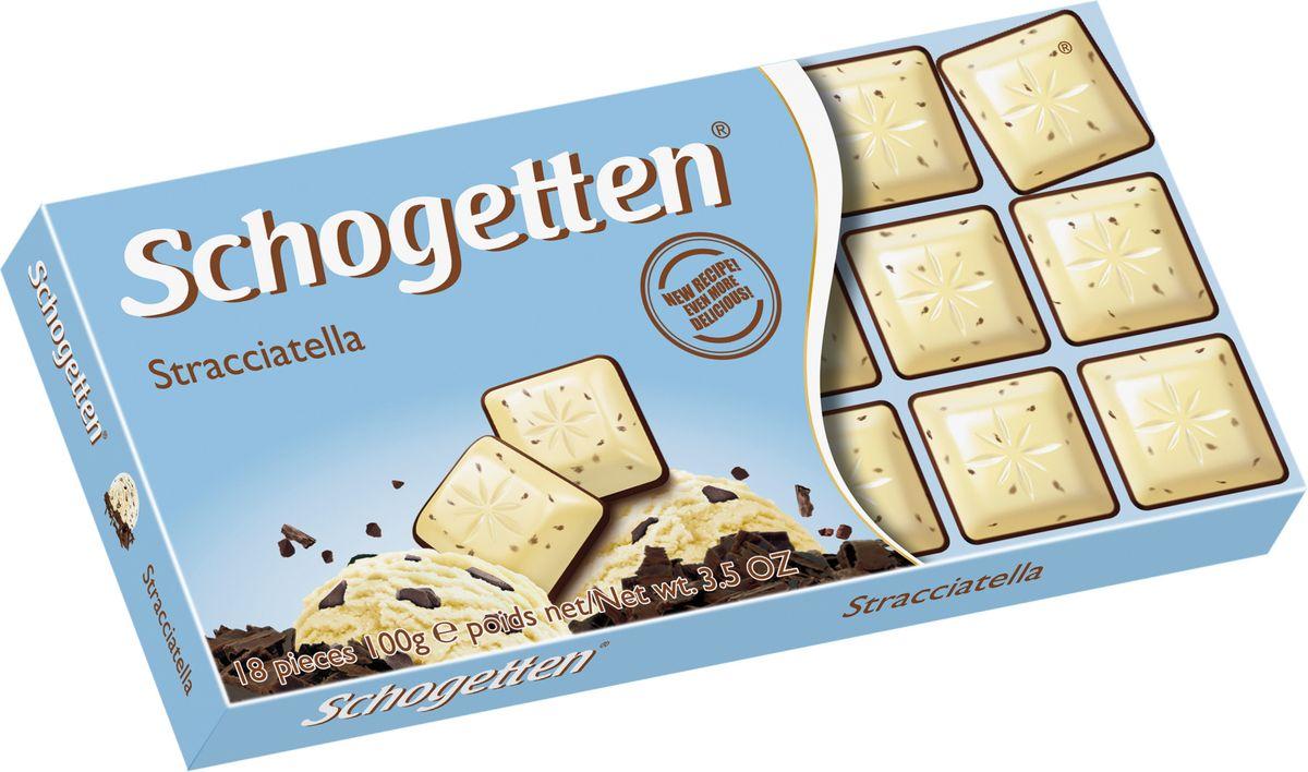 Schogetten Stracciatella Белый шоколад с какао-крупкой горького шоколада 100 г