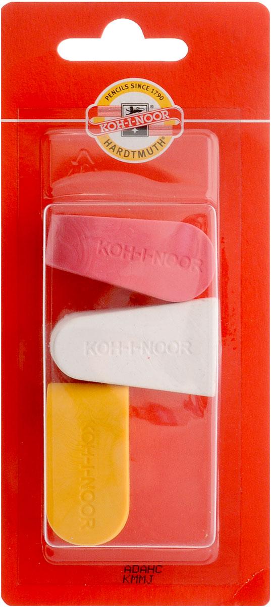 Koh-i-Noor Набор ластиков цвет красный белый желтый 3 шт6222_красный, белый, желтыйЛастики Koh-i-Noor идеально подходят для применения как в школе, так и в офисе. Ластики обеспечивают высокое качество коррекции, не повреждают поверхность бумаги, даже при сильном трении не оставляют следов. Абсолютно безопасны, не токсичны и экологичны. В упаковке 3 ластика.
