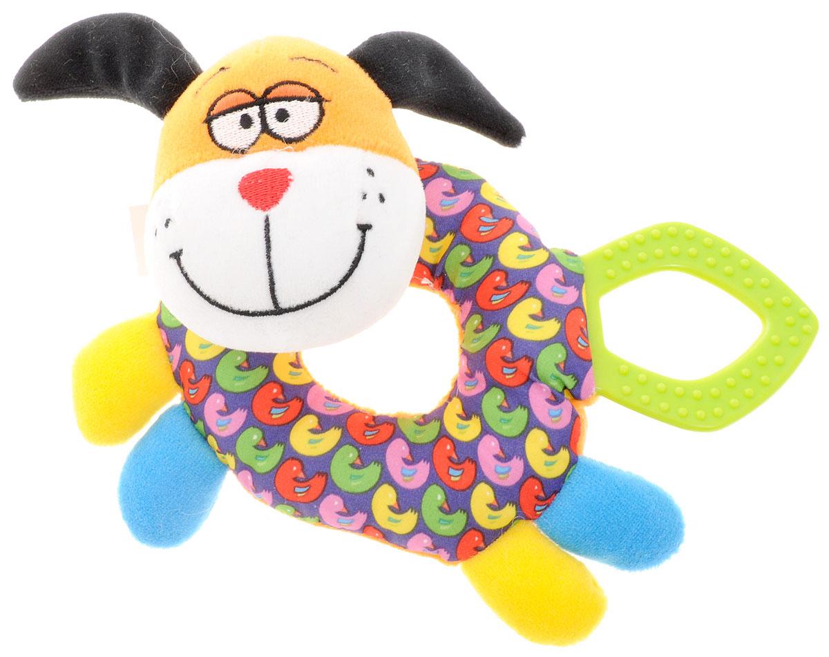 Bondibon Погремушка СобакаВВ1288Мягкие погремушки становятся самыми любимыми игрушками малышей в первые месяцы жизни. Именно погремушки передают крохам первый визуальный и тактильный опыт, а также учат находить взаимосвязь - если потрясти погремушку, то возникнет звук! Погремушка Bondibon выполнена в виде яркой собачки, а также оснащена прорезывателем для зубов, выполненным из качественного и безопасного материала.