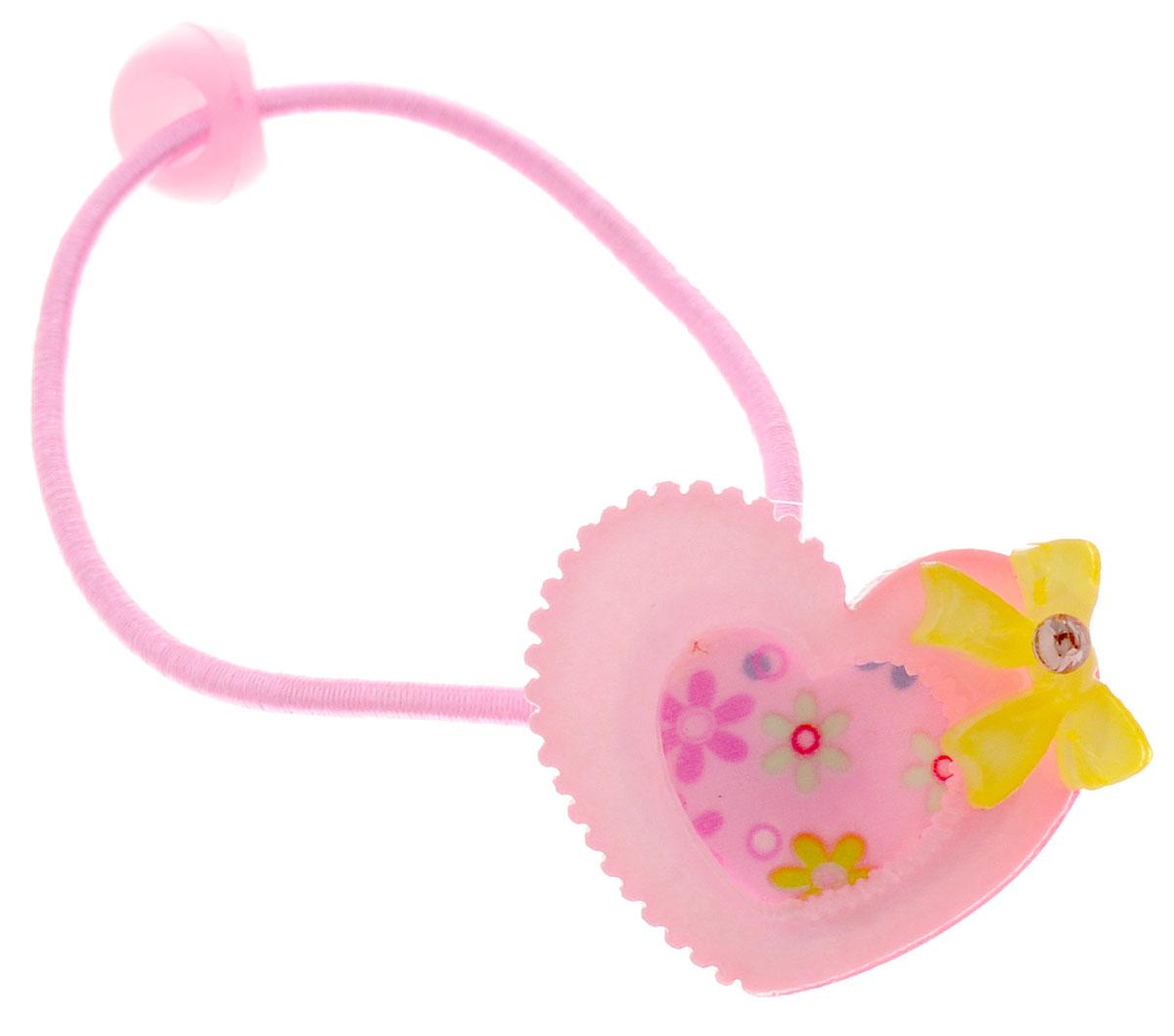 Fashion House Резинка для волос Сердечко 2 штFH27910_розово-желтыйРезинка для волос Fashion House Сердечко позволит украсить прическу вашей малышки и доставит ей много удовольствия. Резинка украшена декоративным элементом в виде розовых сердечек и желтых бантиков. Комплект включает две резинки.