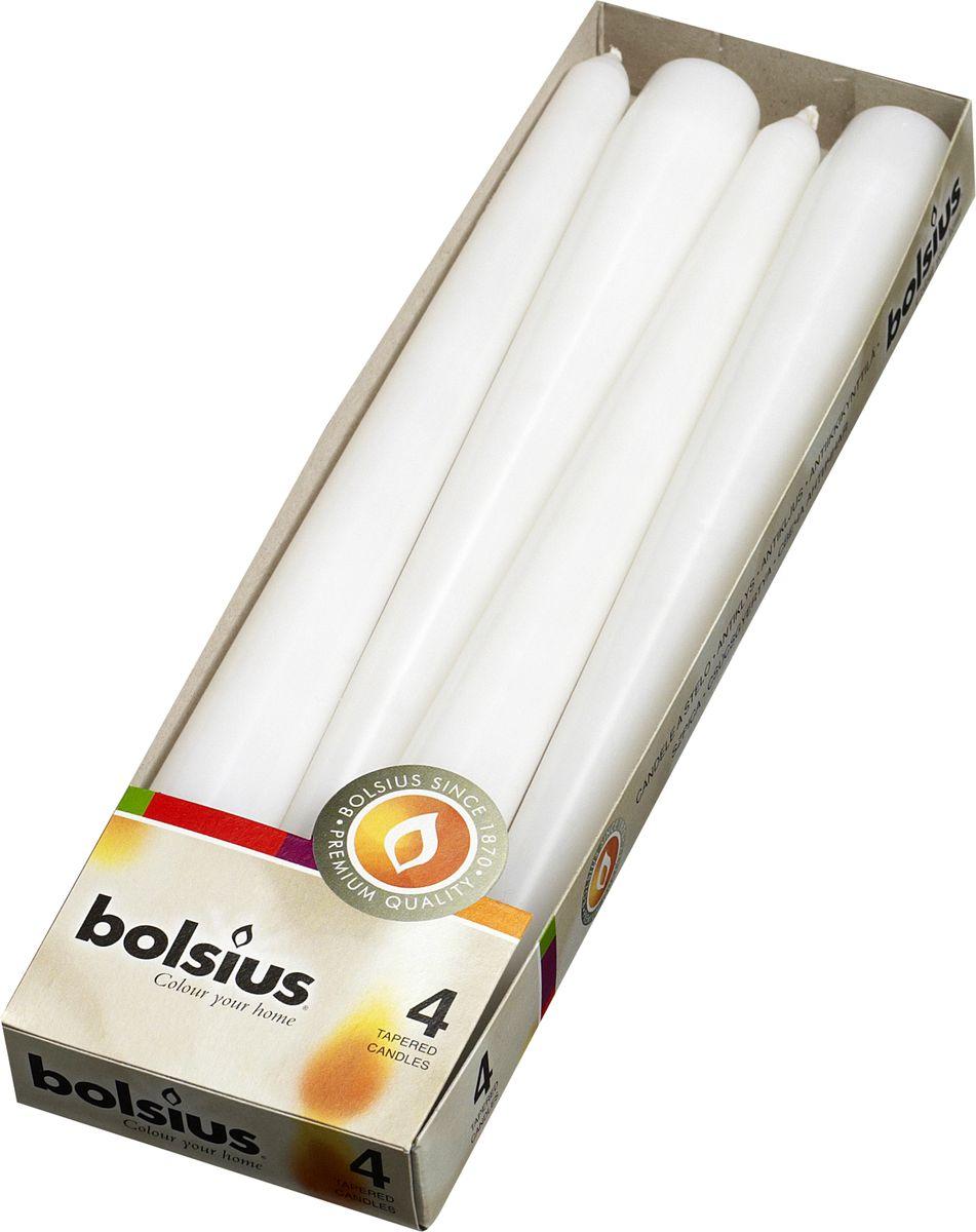Свеча античная Bolsius, цвет: белый, 25 х 2 см , 4 шт103600350902