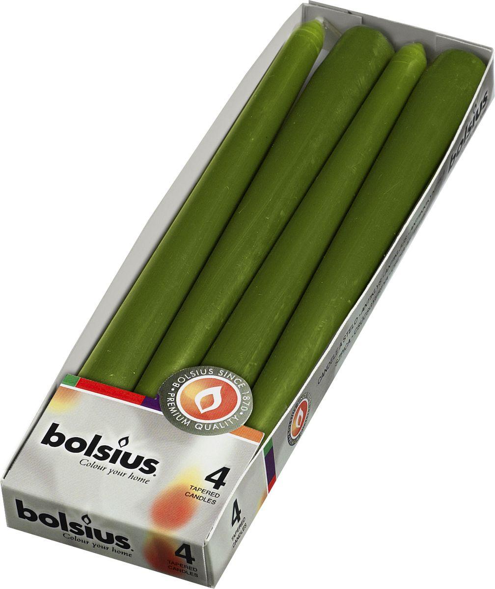 Свеча античная Bolsius, цвет: зеленый, 25 х 2 см , 4 шт103600350970