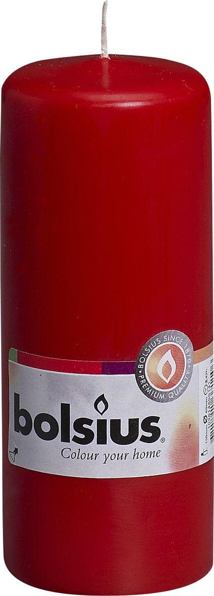 Свеча Bolsius, цвет: красный, высота 15 см103614600141