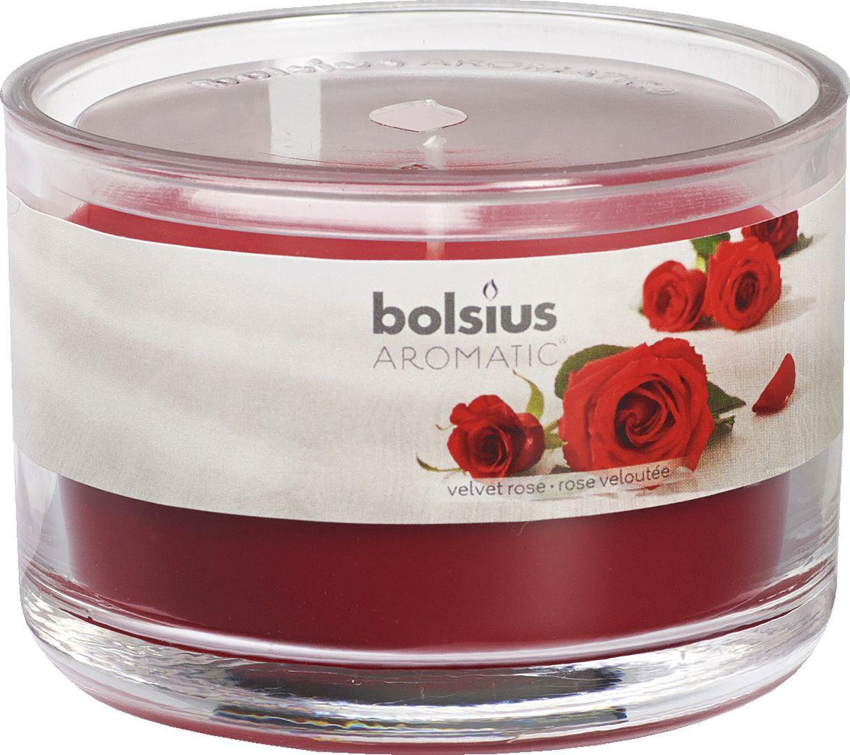 Свеча ароматизированная Bolsius Роза, высота 6,3 см103625820381Ароматизированная свеча Bolsius, изготовленная из парафина, помещена в подсвечник, выполненный из стекла. Изделие отличается оригинальным дизайном и приятным ароматом. Такая свеча не только поможет дополнить интерьер вашей комнаты, но и станет отличным подарком.