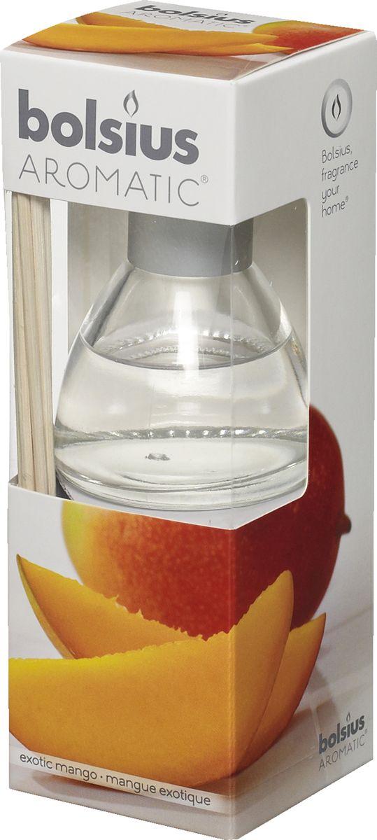 Диффузор ароматический Bolsius Манго, 45 мл103626800410Ароматический диффузор Bolsius - это простое, изящное и долговременное решение, как наполнить дом или офис приятным запахом. Диффузор - это не просто освежитель воздуха, а элемент декора, который окутает вас своим приятным и нежным ароматом. Отлично подойдет в качестве подарка. Способ применения: поместите палочки в вазу с ароматической жидкостью. Степень интенсивности запаха может регулироваться объемом ароматической жидкости и количеством палочек. Товар сертифицирован.