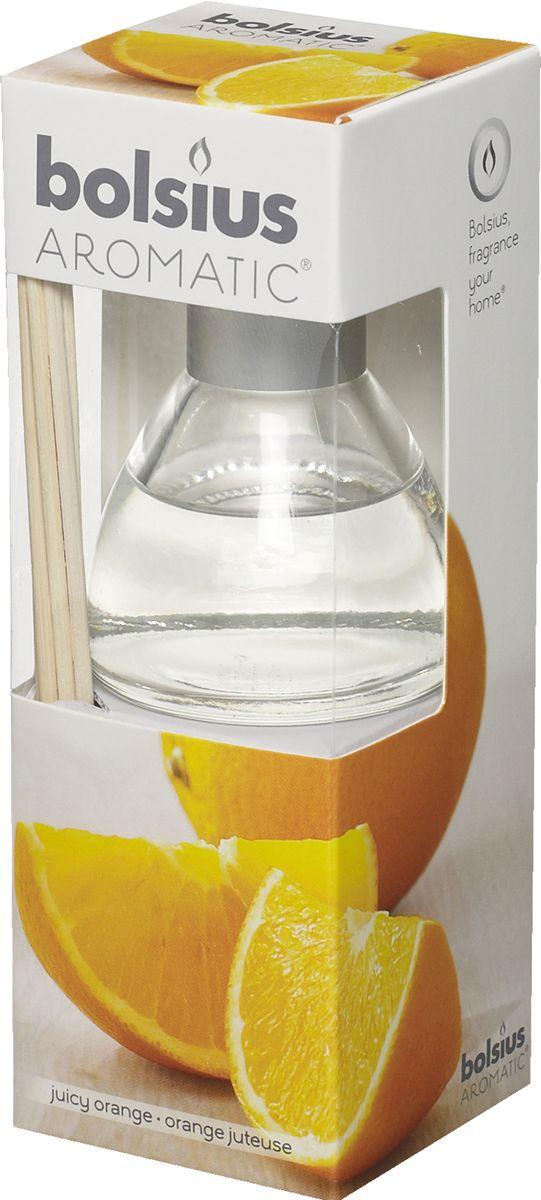 Диффузор ароматический Bolsius Апельсин, 45 мл103626800484Ароматический диффузор Bolsius - это простое, изящное и долговременное решение, как наполнить дом или офис приятным запахом. Диффузор - это не просто освежитель воздуха, а элемент декора, который окутает вас своим приятным и нежным ароматом. Отлично подойдет в качестве подарка. Способ применения: поместите палочки в вазу с ароматической жидкостью. Степень интенсивности запаха может регулироваться объемом ароматической жидкости и количеством палочек. Товар сертифицирован.