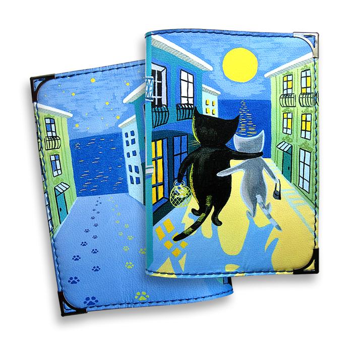 Обложка для паспорта BORЯN Лунная дорожка, цвет: синий, желтый. Авторская работа. BR504BR504Высокое качество, стиль, авторский подход, новаторские технологии, делают аксессуары BORЯN безупречными. Никакого «хендмейда» в привычном понимании. Ручная работа - показатель внимания к деталям и безупречного исполнения. Ассортимент марки производится вручную в Москве в нашей мастерской. Все сюжеты придуманы и воплощены художниками BORЯN ®. Стильные, яркие, из натуральной, высококачественной кожи, обложки для документов BORЯN подчеркнут ваш неповторимый стиль и прекрасно защитят документы. Наша обложка - Ваш безупречный аксессуар! Сделано в России!