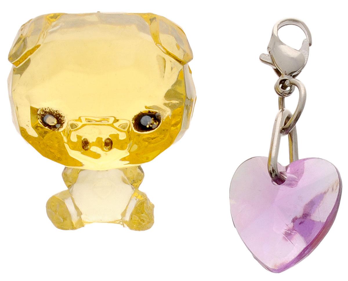 Crystal Surprise Фигурка Поросенок Zing цвет желтый45702_желтый, фиолетовыйСамые искристые, самые сияющие малютки-зверюшки собрались здесь, чтобы принести вам удачу! Когда на небе встает солнце вдогонку тающей луне, появляются зверьки Crystal Surprise. Возьмите их в руку - и почувствуете, как они приносят удачу. У каждого зверька Crystal Surprise есть свое предназначение, каждый из них станет вашим талисманом. Носите, дарите их. Соберите их всех, чтобы умножить их магические способности! Предназначение фигурки Crystal Surprise Поросенок Zing - везение. Фигурка искрится и сияет - вам удачу прибавляет! Носите поросенка везде с собой - это ваш талисман удачи! В набор также входит подвеска на удачу!