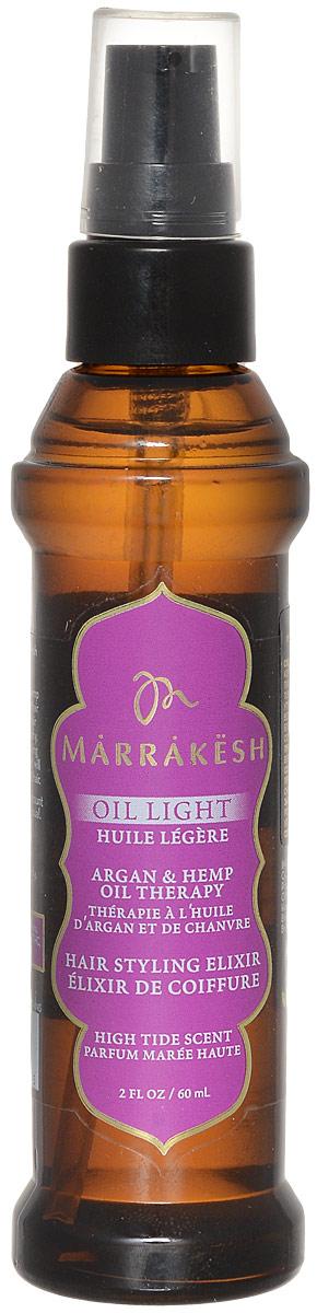 Marrakesh Легкое восстанавливающее и укрепляющее масло для волос High Tide, 60 млMKL053легкая версия масла Marrakesh для укрепления волос - Заметно улучшает состояние и тестуру ломких, сухих волос - Экстракт лайма придает волосам плотность и объем, не утяжеляет тонкие волосы - Делает волосы шелковистыми и гладкими - Надолго устраняет пушение - Добавляет волосам блеск - в 2 раза сокращает время сушки волос - Подходит для окрашенных волос - Масла Арганы и Конопли улучшают состояние волос и их текстуру - Масла Арганы и Конопли делают волосы послушными и эластичными - Волосы на ощупь становятся гладкими и шелковистыми - Убирает пушение и добавляет волосам блеск - Делает волосы более гибкими и упрощает укладку - Легкая текстура подходит для всех типов волос С ароматом кокоса, лайма и вербены